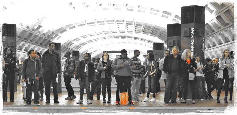 Friday night commuters - Washington DC